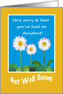 Chic Get Well Card, Accident, Daisies card