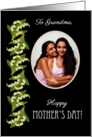 Lilies Mother's Day Photo Card, to Grandmother card