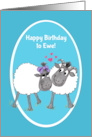 Fun Cute Sheep 'Happy Birthday to Ewe' Card
