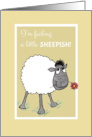 Cute Sheep, Feeling Sheepish, Sorry, Apology Card