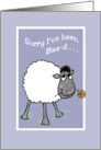 Cute Sheep, 'Sorry I've been Baa-d', Apology Card