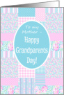 Grandparents Day Card for Mother: Pink Roses Patchwork card