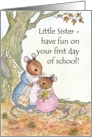 Little Mouse First Day at School Card for Little Sister card