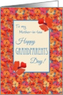 Icelandic Poppies Grandparents Day Card, Mother-in-law card