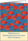 Speedy Recovery Card from Heart Surgery, Red Field Poppies card