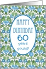 Pretty 60th Birthday Card, Blue Morning Glory card