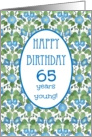 Pretty 65th Birthday Card, Blue Morning Glory card
