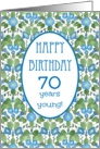 Pretty 70th Birthday Card, Blue Morning Glory card