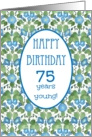 Pretty 75th Birthday Card, Blue Morning Glory card