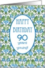 Pretty 90th Birthday Card, Blue Morning Glory card