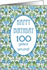 Pretty 100th Birthday Card, Blue Morning Glory card