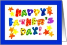 Bright and Jazzy Happy Father's Day Card with Stars card