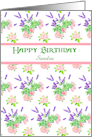 Custom Front Nostalgic Scents of Summer Birthday Card for Sandra card