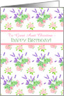 Custom Front Nostalgic Scents of Summer Birthday Card for Great Aunt card
