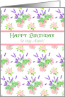 Nostalgic Scents of Summer Birthday Card for Aunt card