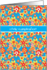 Spanish Birthday Card, Ditsy Floral Pattern card