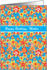 Custom Birthday Card for Mother, Ditsy Floral Pattern card