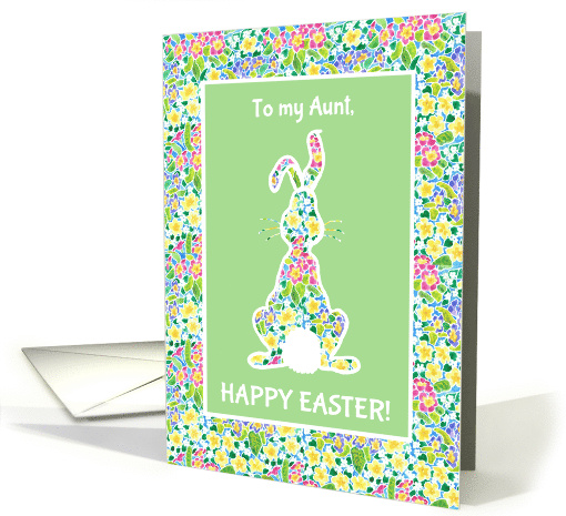 Easter Card for Aunt, Cute Rabbit card (1063777)