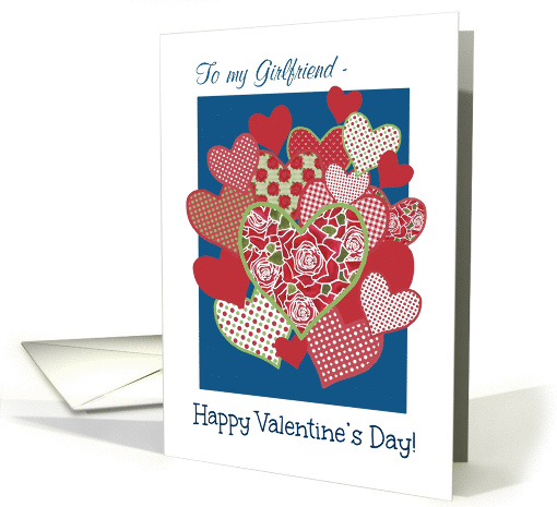 Valentine's Card for Girlfriend, Hearts and Red Roses card (1228822)