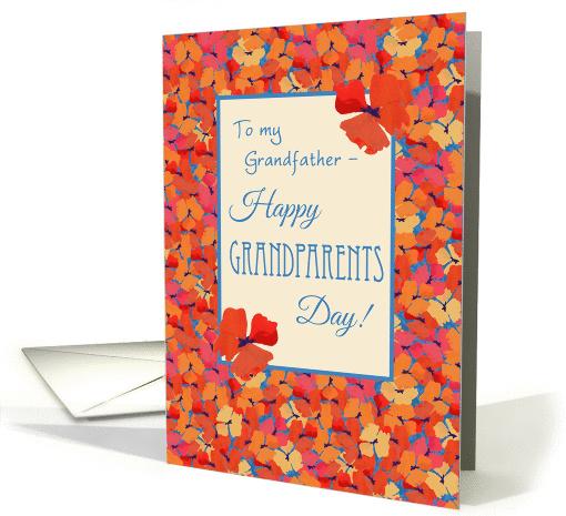 Iceland Poppies Grandparents Day Card, Grandfather card (1310536)