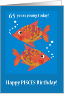 Custom Goldfishes Pisces Age-specific Birthday card