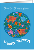 Fun Fish in the Sea Norooz Card from Our Home to Yours card
