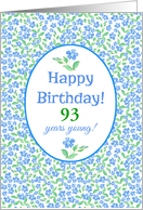 Custom Birthday Pretty Blue Green Periwinkle Flowers card
