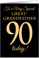 Chic 90th Birthday Card for Great-grandfather card