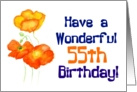'Icelandic Poppies' 55th Birthday Card