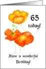 icelandic Poppies 65th Birthday Card