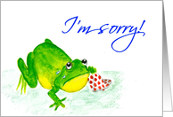'I'm Sorry!' Frog Crying Card