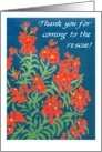 Red Wallflowers 'Thank You for Your Help' Card