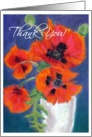 'Poppies' Thank You Card