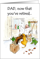 Retirement Card for a Father - Garden Shed card