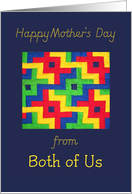 Mother's Day 'Quilt' Card - from Both of Us card
