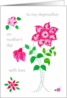 Mother's Day Card for a Stepmother - Pink Flowers card