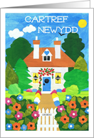 New Home Card with Welsh Greeting card