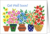 Get Well Soon - 'Flower Power' card