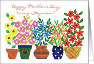 Mother's Day Card for a Stepmom - 'Flower Power' card