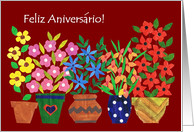Birthday Card With Portuguese Greeting