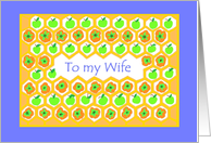 Rosh Hashanah Card for a Wife card