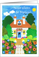 New Home Announcement Card - French Greeting card