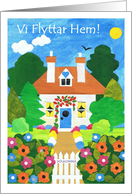 New Home Announcement Card - Swedish Greeting card