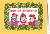 'Red Hats' Christmas Card