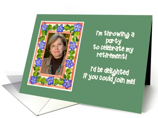 Retirement Party Invitation Photo Card - Periwinkles card (866559)
