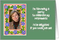 Retirement Party Invitation Photo Card - Periwinkles card