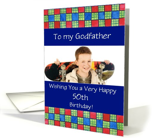 50th Birthday Photo Card for Godfather or Anyone Special card (867181)