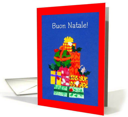 Christmas Card with Italian Greeting and Gifts card (871029)