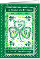 Custom Front St Patrick's Day Shamrock Card