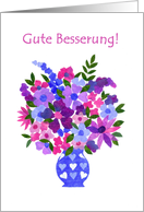 Bouquet of Flowers Get Well Card, German card